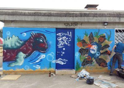 Seeungeheuer und Laternenfisch