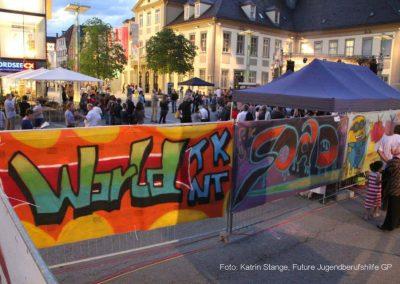 Marktplatz-Graffiti